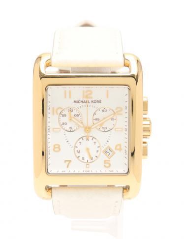 c8ca360506d4 MICHAEL KORS(マイケルコース)レディース 腕時計 クロノグラフ デイト クオーツ SS レザー ゴールド 白|中古ブランド通販のRECLO