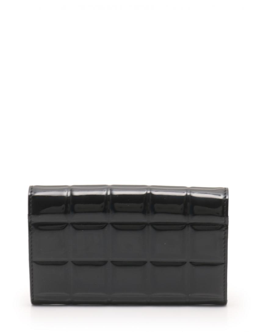 CHANEL・財布・小物・チョコバー 財布 コインケース カードケース エナメルレザー 黒