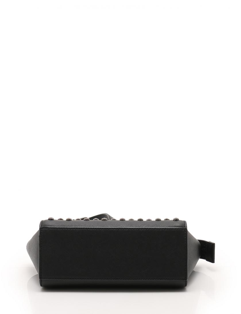 5e0ee09d280e MICHAEL KORS(マイケルコース)SELMA Medium Messenger ショルダーバッグ レザー 黒 スタッズ|中古ブランド通販の RECLO