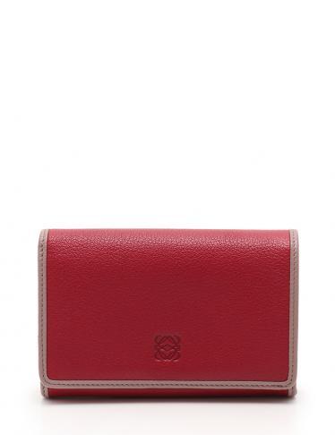 97d39e5e5ca8 LOEWE(ロエベ)アマソナ 二つ折り財布 レザー 紫 中古ブランド通販のRECLO
