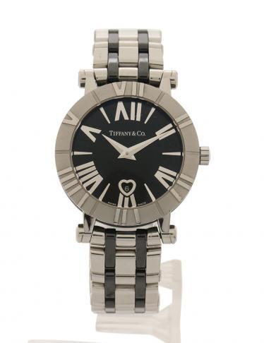 low cost f4b6d 0f8c4 TIFFANY & Co.(ティファニー)アトラス 腕時計 レディース クオーツ SS シルバー 黒|中古ブランド通販のRECLO