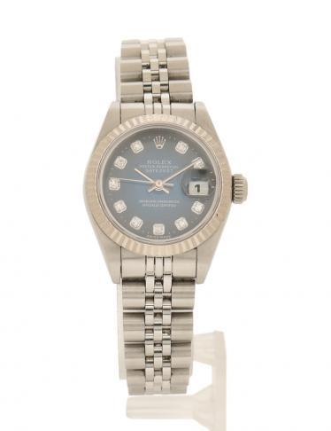 san francisco 5725b 07041 ROLEX(ロレックス)デイトジャスト 腕時計 レディース 自動巻き SS K18WG シルバー ホワイトゴールド ...