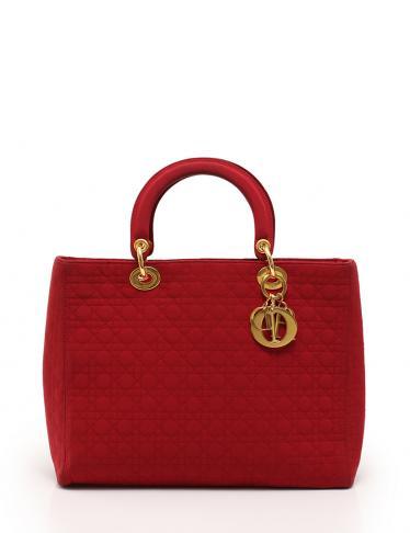 brand new e673d d7c23 Christian Dior(クリスチャンディオール)レディディオール カナージュ トートバッグ ナイロン 赤|中古ブランド通販のRECLO
