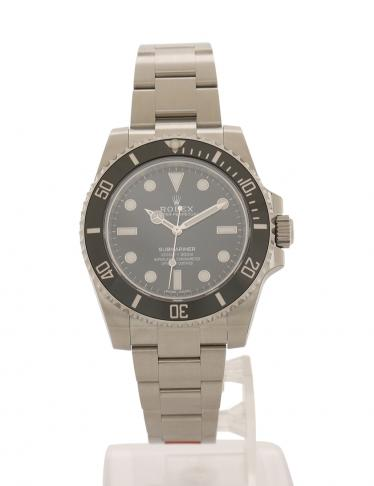 quality design 35567 068bf ROLEX(ロレックス)サブマリーナ ノンデイト 腕時計 メンズ 自動巻き SS シルバー 黒 ...