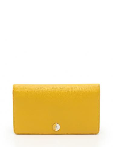 1efadab6261a CHANEL(シャネル) 二つ折り長財布 キャビアスキン 黄 13S|中古ブランド通販のRECLO