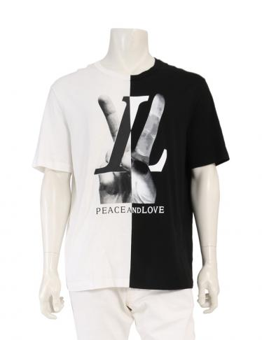 louis vuitton ルイヴィトン peace and love tシャツ カットソー 黒 白