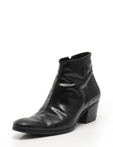 huge discount f0e31 12d81 Dior HOMME(ディオールオム)ヒール ブーツ エナメルレザー 黒|中古ブランド通販のRECLO