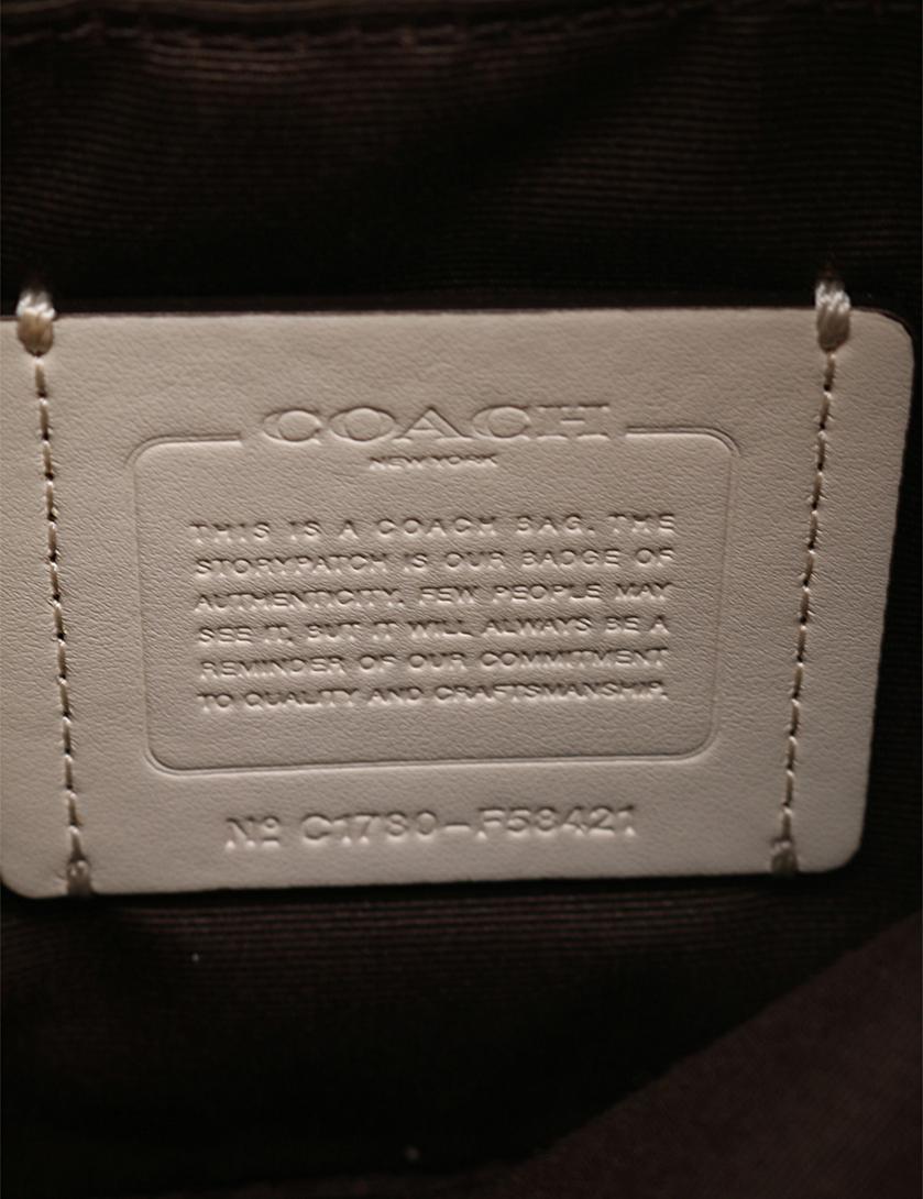 86a624dcd802e COACH(コーチ)アウトライン シグネチャー NS クロスボディー ショルダーバッグ キャンバス レザー ベージュ アイボリー|中古ブランド通販の RECLO