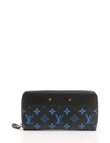purchase cheap 299cf 33b56 LOUIS VUITTON(ルイヴィトン)ジッピーウォレット モノグラムカラー ラウンドファスナー長財布 PVC レザー 黒  青|中古ブランド通販のRECLO