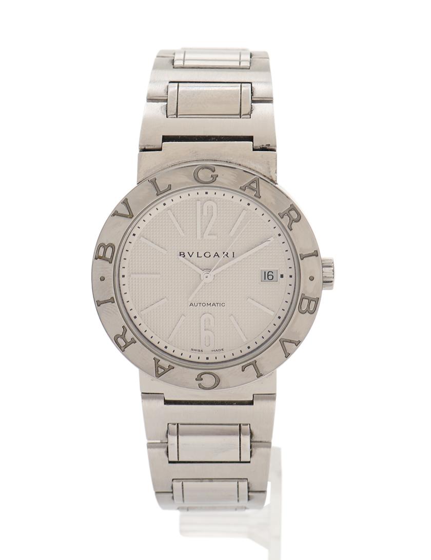 8efcada4185b BVLGARI(ブルガリ)ブルガリブルガリ メンズ 腕時計 自動巻き SS シルバー デイト 白文字盤 中古ブランド通販のRECLO