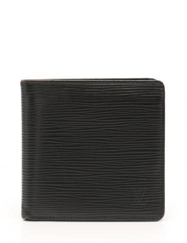 newest collection c2f80 7e580 LOUIS VUITTON(ルイヴィトン)ポルトフォイユ マルコ エピ 二つ折り財布 レザー ノワール|中古ブランド通販のRECLO