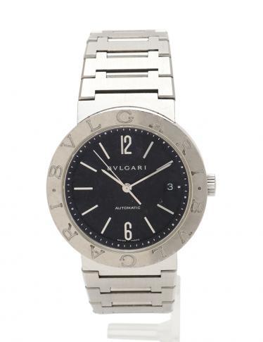 48cba2410d29 BVLGARI(ブルガリ)ブルガリブルガリ メンズ 腕時計 自動巻き SS シルバー 黒 デイト 黒文字盤 中古ブランド通販のRECLO