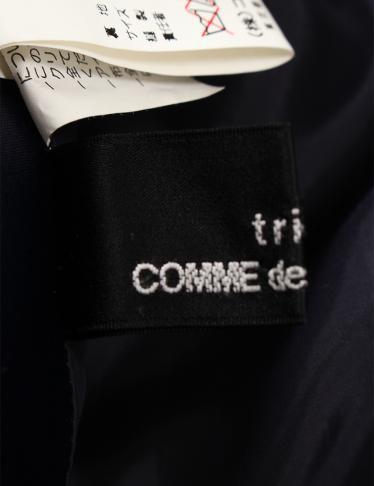 tricot COMME des GARCONS・ボトムス・ スカート ロング丈 ウール ネイビー 青 黒 切替