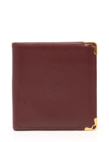 Cartier・財布・小物・マストライン 二つ折り財布 レザー ボルドー