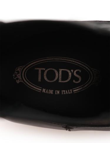 TOD'S・シューズ・ ショートブーツ レザー 黒 サイドゴア