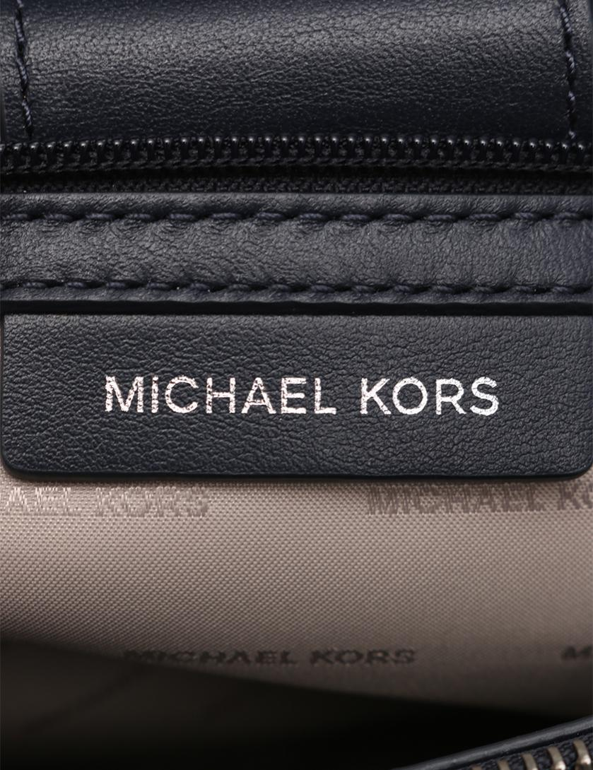 8e614af44a93 MICHAEL KORS(マイケルコース)GRAMERCY ミディアム サッチェル ハンドバッグ レザー 白 水色 2WAY 中古ブランド通販の RECLO
