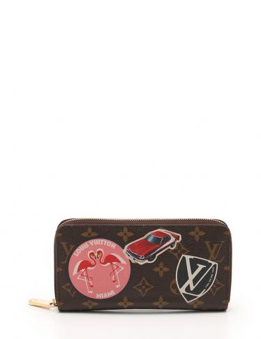 quality design 862e2 23706 LOUIS VUITTON(ルイヴィトン)ジッピーウォレット モノグラム ワールドツアー ラウンドファスナー長財布 PVC レザー  茶|中古ブランド通販のRECLO