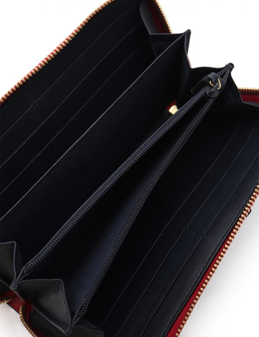 df757f444734 GUCCI(グッチ)GGスプリーム ラウンドファスナー長財布 PVC ベージュ ネイビー 赤 リボン|中古ブランド通販のRECLO