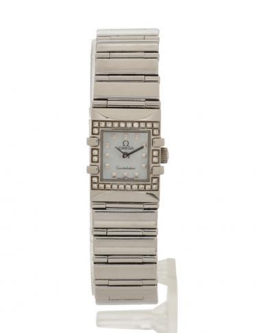 sale retailer d1ad1 15c0e OMEGA(オメガ)コンステレーション カレ レディース 腕時計 クオーツ SS ダイヤモンド シルバー ベゼルダイヤ 中古ブランド通販のRECLO