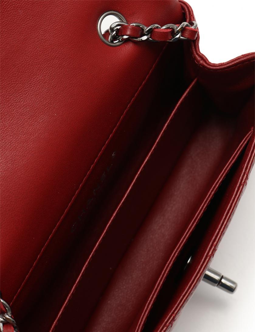 29b9c2216ac4 CHANEL(シャネル)エクストラ ミニマトラッセ チェーンポシェット ショルダーバッグ ラムスキン 赤 シルバー金具|中古ブランド通販のRECLO