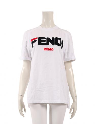the latest b8759 795e4 FENDI(フェンディ)FENDI × FILA Tシャツ カットソー コットン 白 2018AW|中古ブランド通販のRECLO