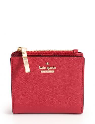 size 40 b3220 6901e kate spade(ケイトスペード)キャメロンストリート アデリン 二つ折り財布 レザー 赤 パスケース付き|中古ブランド通販のRECLO