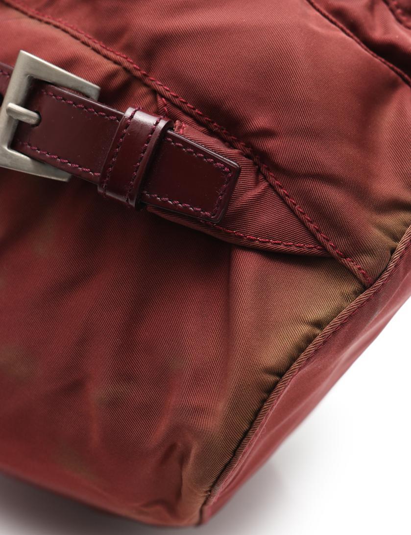 c5259a9fd615 PRADA(プラダ)VELA バックパック リュック ナイロン レザー ボルドー 中古ブランド通販のRECLO