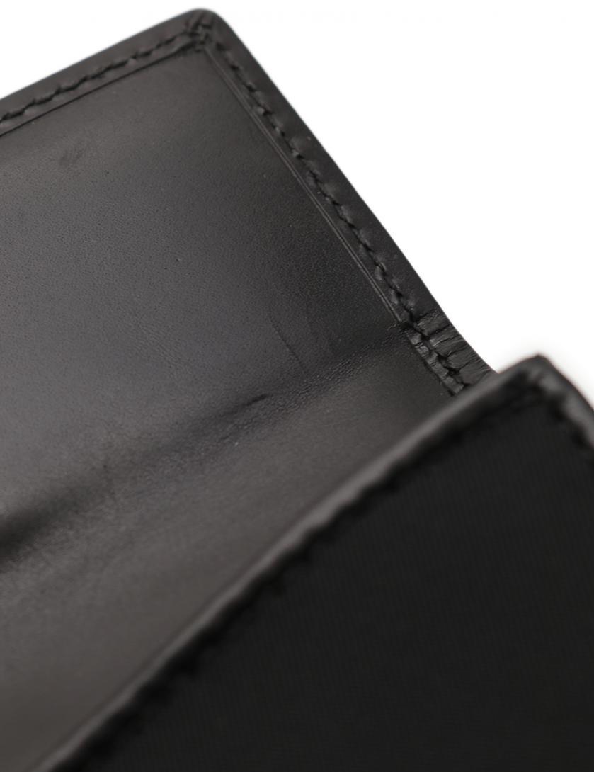 db6f1d1d5e0d PRADA(プラダ)TESSUTO NIGHT Wホック二つ折り財布 ナイロン 黒 ラインストーン|中古ブランド通販のRECLO