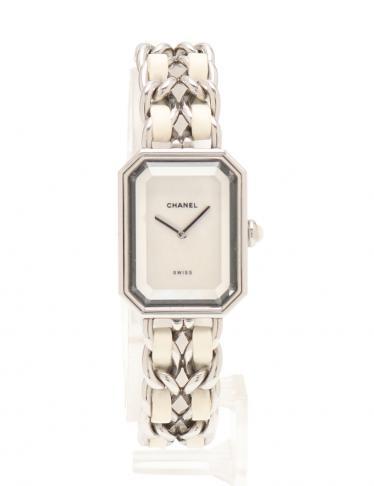 buy popular 1362c b9313 CHANEL(シャネル)プルミエール M レディース 腕時計 クオーツ SS ラバー シルバー 白 シェル文字盤|中古ブランド通販のRECLO