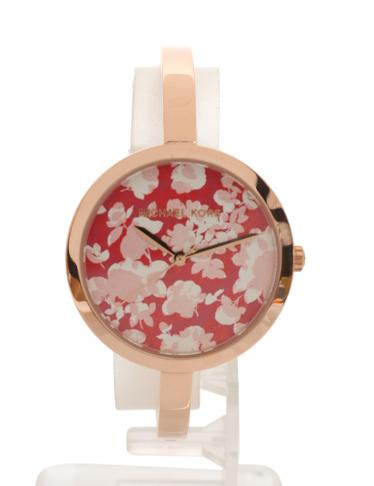 4e08cde76761 MICHAEL KORS(マイケルコース)腕時計 レディース クオーツ フローラル フラワー ピンクゴールド ピンク|中古ブランド通販のRECLO