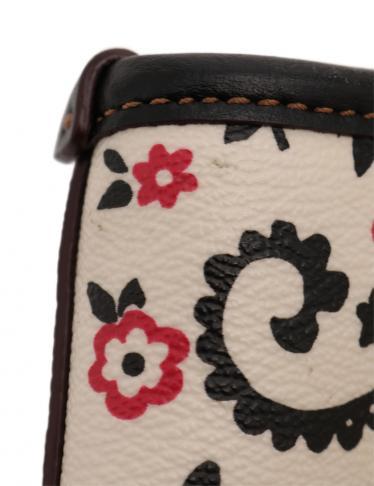 da0e1932b391 HOME · COACH コーチ · バッグ · トートバッグ; バタフライ バンダナ プリント トートバッグ PVC レザー アイボリー 黒 ピンク.  マウスを合わせると画像を拡大できます