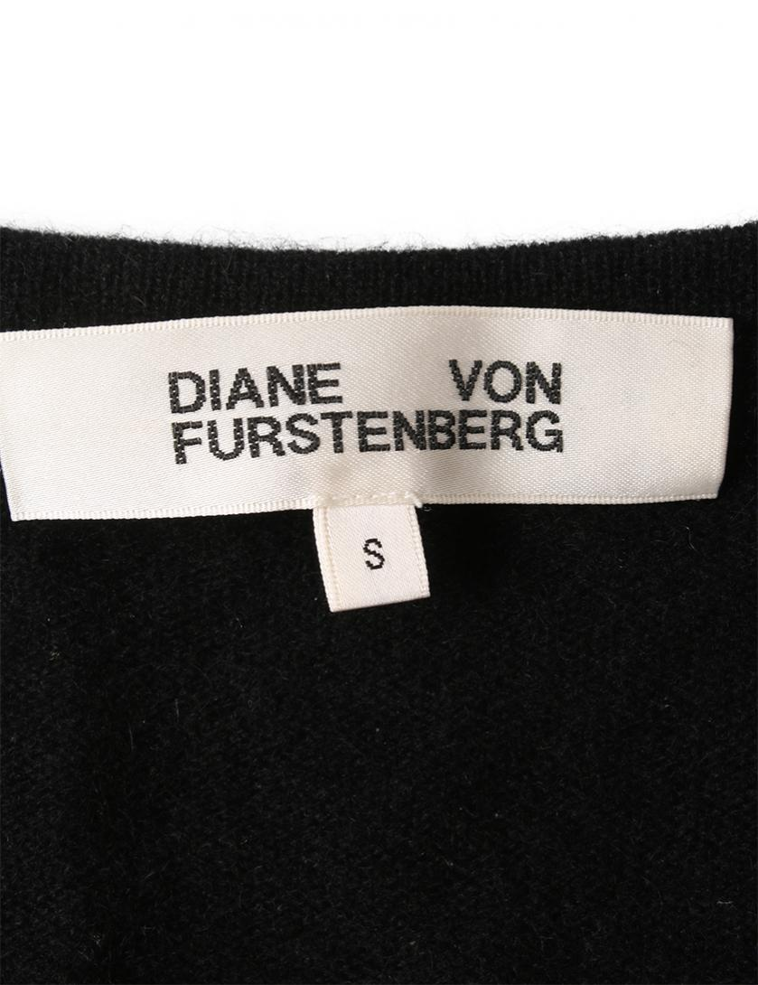 d02492ff51e46 DIANE von FURSTENBERG(ダイアンフォンファステンバーグ)ニットワンピース ラップワンピース カシミヤ 黒|中古ブランド通販の RECLO