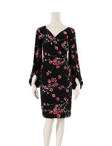 1e95d858a5efd LAUREN RALPH LAUREN(ローレンラルフローレン)ワンピース 花柄 黒 赤 白|中古ブランド通販のRECLO