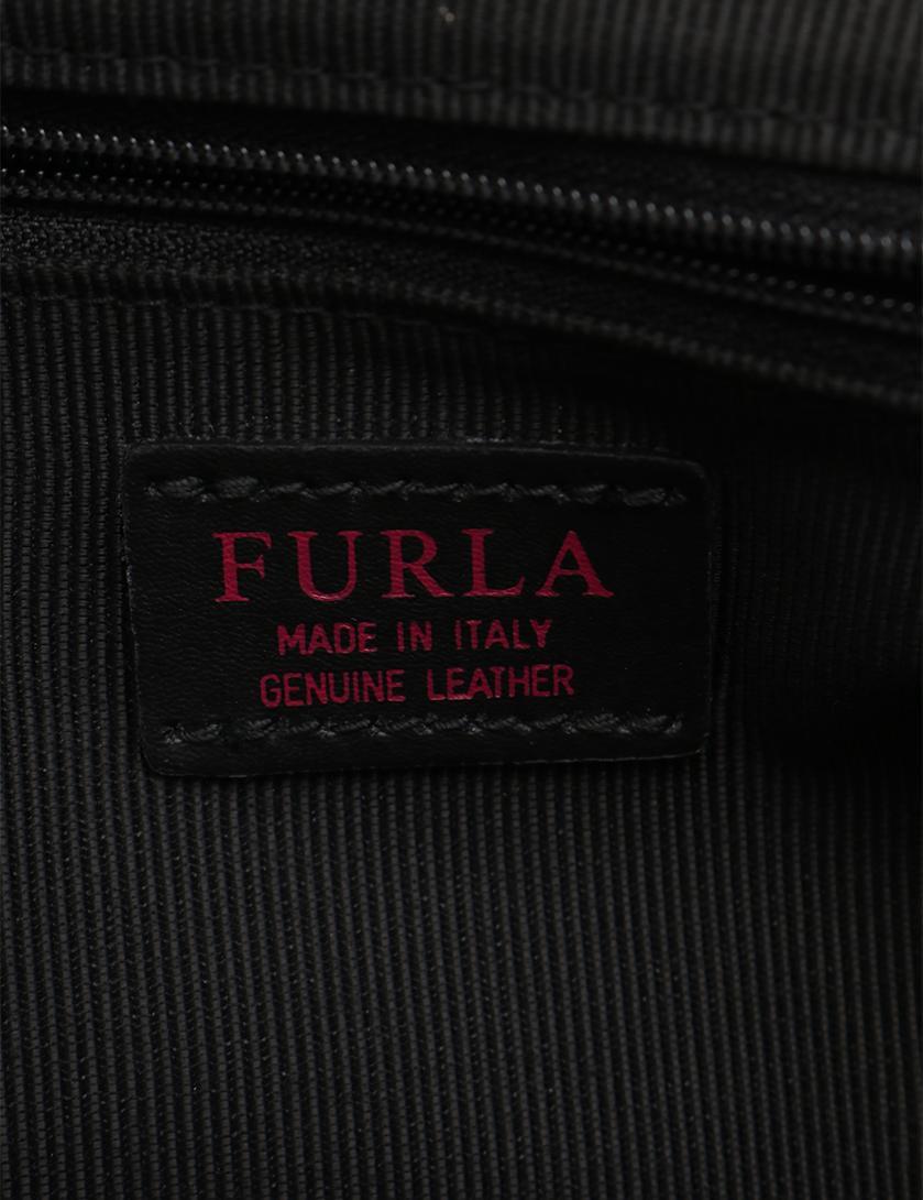 f2ca5e36d8ec FURLA(フルラ)METROPOLIS NUVOLA メトロポリス ショルダーバッグ フェイクファー レザー 黒|中古ブランド通販のRECLO