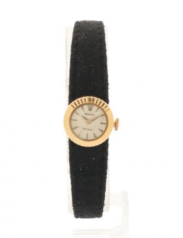pretty nice 824b4 20d5e ROLEX(ロレックス)カメレオン プレシジョン 腕時計 レディース 手巻き K18YG スエード イエローゴールド 黒  ヴィンテージ 中古ブランド通販のRECLO