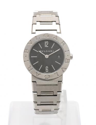 innovative design 17bf7 9042b BVLGARI(ブルガリ)ブルガリブルガリ 腕時計 レディース クオーツ SS シルバー 黒文字盤|中古ブランド通販のRECLO