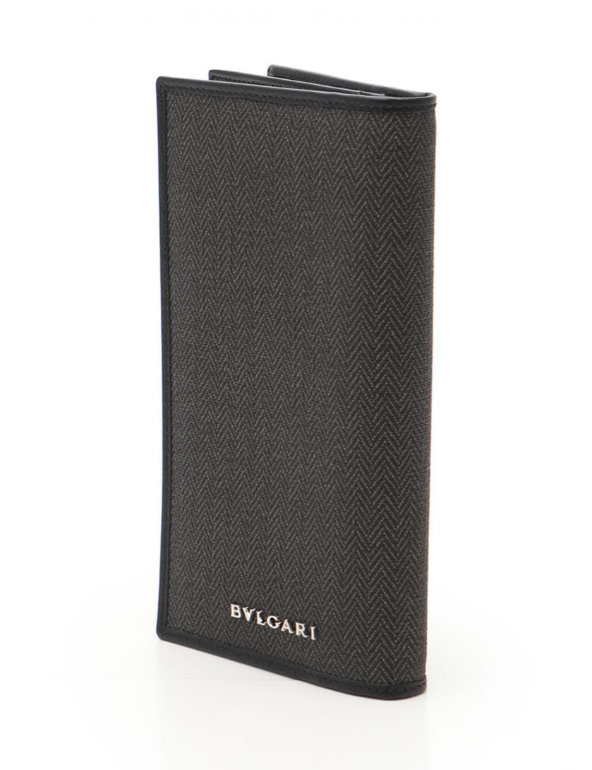 651c86c31eb5 BVLGARI(ブルガリ)ウィークエンド 二つ折り長財布 PVC レザー グレー 黒|中古ブランド通販のRECLO