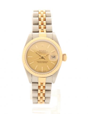 reputable site ad541 4f344 ROLEX(ロレックス)デイトジャスト レディース 腕時計 自動巻き SS YG シルバー イエローゴールド|中古ブランド通販のRECLO