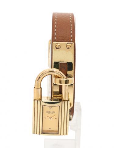 new concept b6f91 60f35 HERMES(エルメス)ケリーウォッチ レディース 腕時計 クオーツ GP レザー ゴールド 〇Y刻印|中古ブランド通販のRECLO