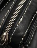 CHANEL・バッグ・チェーンショルダーバッグ レザー 黒 ロゴ シルバー金具