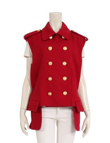 the best attitude 373fd 48458 Christian Dior(クリスチャンディオール) ジャケット ノースリーブ ウール 赤|中古ブランド通販のRECLO