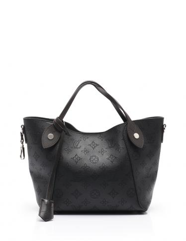 uk availability dafff 6d66a LOUIS VUITTON(ルイヴィトン)ヒナPM モノグラムマヒナ トートバッグ レザー 黒|中古ブランド通販のRECLO