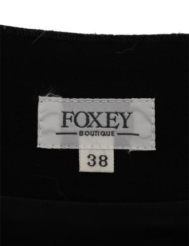 FOXEY・ボトムス・ スカート ウール 黒 プリーツ