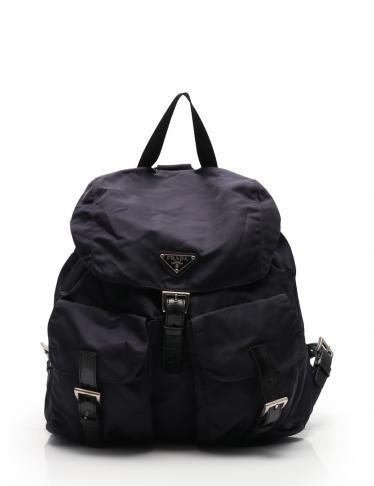 df2109a589fd PRADA(プラダ)VELA リュック バックパック ナイロン レザー 紫 黒|中古ブランド通販のRECLO