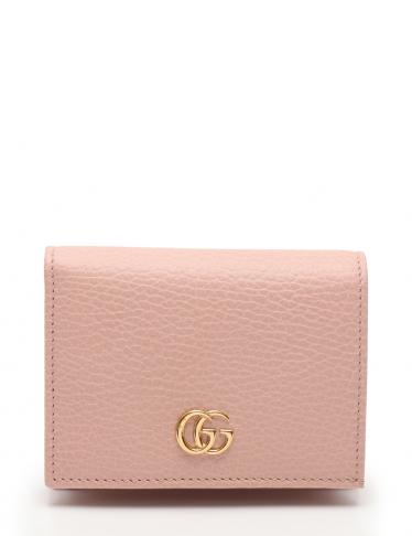 1cffd5f9b22a GUCCI(グッチ)GGマーモント 二つ折り財布 レザー ピンク|中古ブランド通販のRECLO